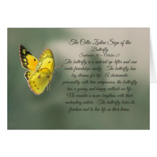 The Celtic Zodiac Sign of the Butterfly Libra Card
