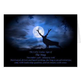 The Celtic Zodiac Sign of  The Stag Card