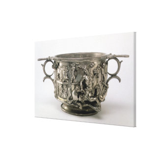 The Centaur Cup, Gallo-Roman, from the Berthouvill Canvas Print