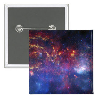 The central region of the Milky Way galaxy 15 Cm Square Badge