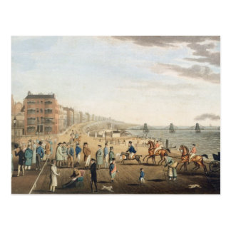 The Chain Pier at Brighton with Characters (etchin Postcard