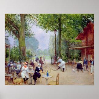 The Chalet du Cycle in the Bois de Boulogne Poster