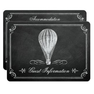 The Chalkboard Hot Air Balloon Wedding Collection 11 Cm X 16 Cm Invitation Card
