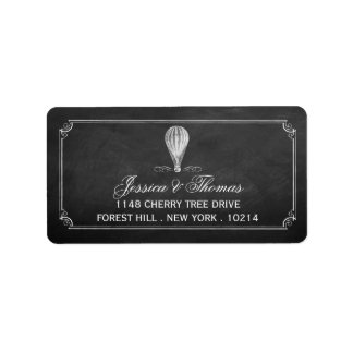 The Chalkboard Hot Air Balloon Wedding Collection Address Label