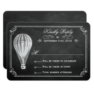 The Chalkboard Hot Air Balloon Wedding Collection Card