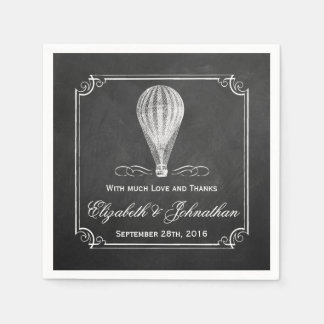 The Chalkboard Hot Air Balloon Wedding Collection Disposable Napkin