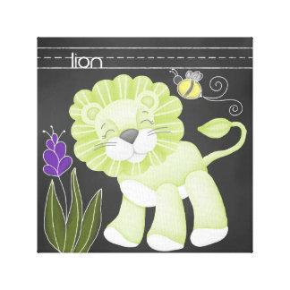 The Chalkboard Jungle: Lion Canvas Print