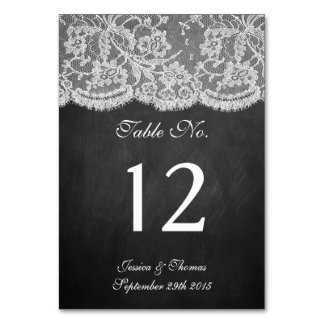 The Chalkboard & Lace Collection Card