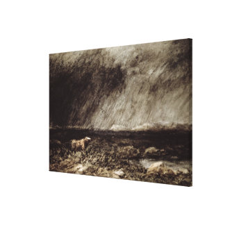 The Challenge on the Moors, near Bettws-y-Coed, No Gallery Wrap Canvas