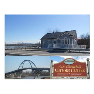 The Champlain Bridge Crown Point New York Postcard