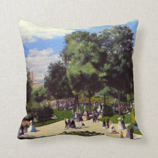 The Champs-Elysees during Paris Fair of 1867 Throw Pillow
