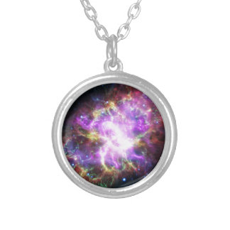 The Chandra X-ray in the Crab Nebula Silver Plated Necklace
