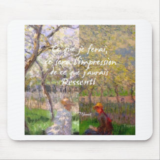 The change of the seasons renew my soul mouse pad