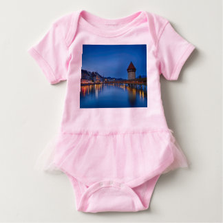 The Chapel Bridge in Lucerne Baby Bodysuit