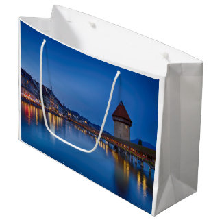 The Chapel Bridge in Lucerne Large Gift Bag