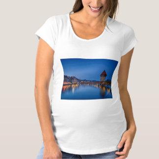 The Chapel Bridge in Lucerne Maternity T-Shirt