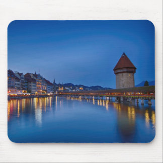 The Chapel Bridge in Lucerne Mouse Pad