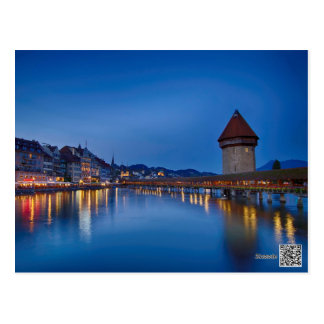 The Chapel Bridge in Lucerne Postcard