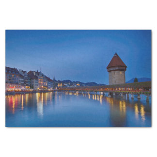 The Chapel Bridge in Lucerne Tissue Paper