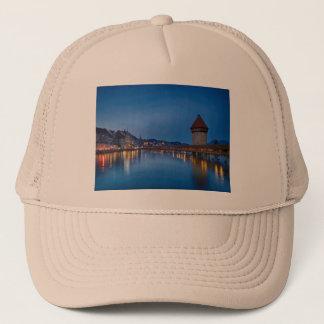 The Chapel Bridge in Lucerne Trucker Hat