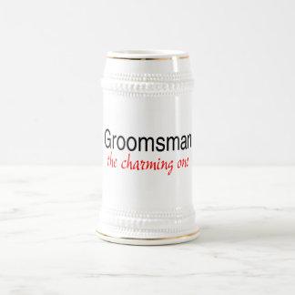 The Charming One (Groomsman) 18 Oz Beer Stein
