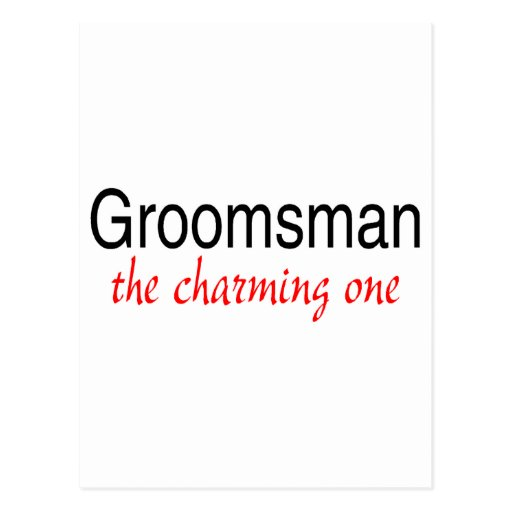 The Charming One (Groomsman) Postcards