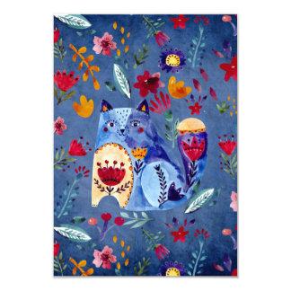 The Cheeky Cat in Flower Garden Card