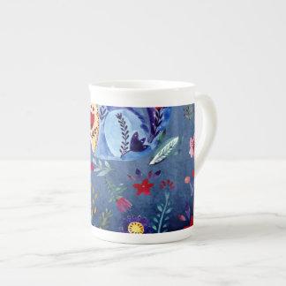 The Cheeky Cat in Flower Garden Tea Cup