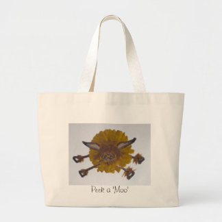 The cheeky Highland Cow Tote Bags