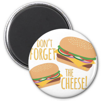The Cheese 6 Cm Round Magnet