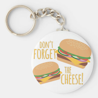 The Cheese Basic Round Button Key Ring