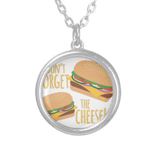 The Cheese Silver Plated Necklace