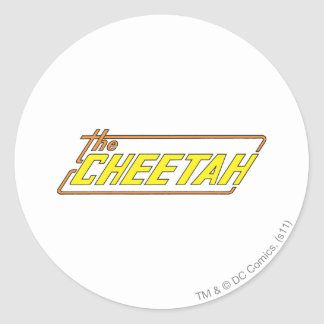The Cheetah Logo Round Sticker