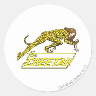 The Cheetah Round Sticker