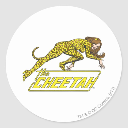 The Cheetah Round Stickers