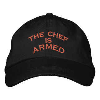 the chef is     ARMED Embroidered Baseball Caps