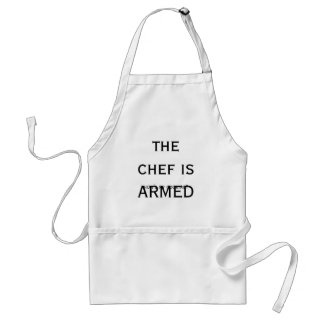 the chef is ARMED how s my cooking Aprons