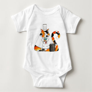 The Chef Puff Cat Baby Bodysuit