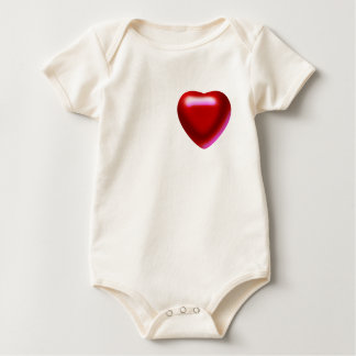 The Cherry Heart Infant Organic Creeper