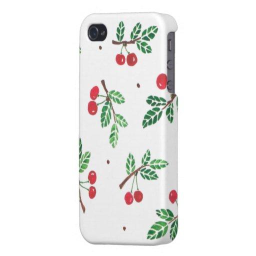 """The cherry or """"le temps des cerises"""" iPhone 4 cover"""
