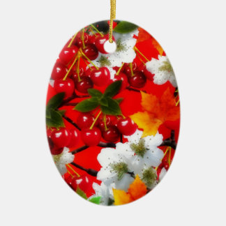 The Cherry Rush Collection Ceramic Oval Decoration