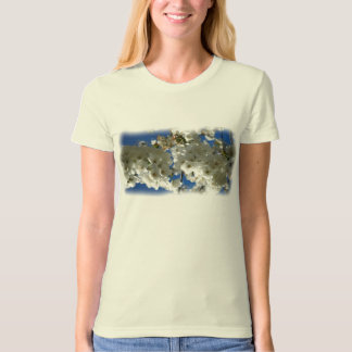 The cherry tree in blossom painting tshirts