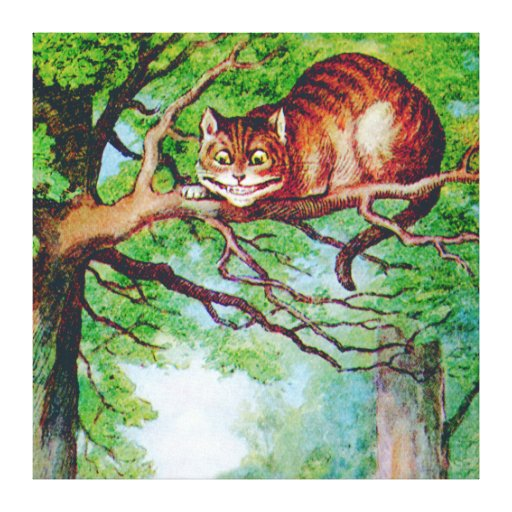 The Cheshire Cat from Alice in Wonderland Gallery Wrapped Canvas
