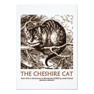 The Cheshire Cat (Wonderland Adventure) 13 Cm X 18 Cm Invitation Card