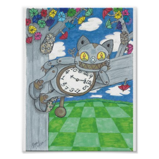 The Cheshire Clock Poster