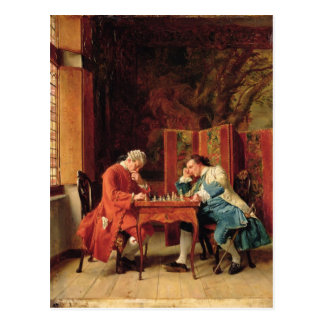 The Chess Players, 1856 Postcard