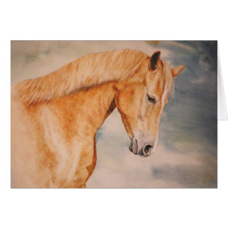 The Chestnut Mare Horse Card