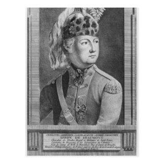 The Chevalier d'Eon as a Dragoon, 1779 Postcard