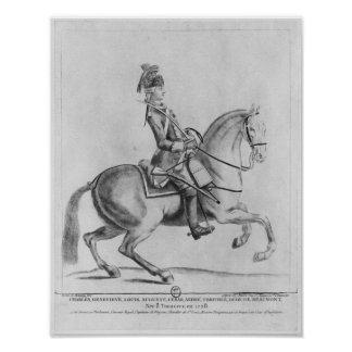 The Chevalier d'Eon as a Dragoon, 1779 Print