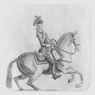 The Chevalier d'Eon as a Dragoon, 1779 Stickers